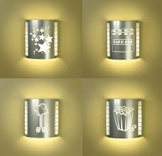 Home Theater Wall Lighting Fixtures Four Or More Silver Home Theater Sconces With Filmstrips