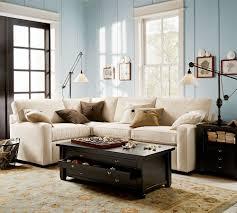 Pottery Barn For Living Room Pb Tudor Upholstered Mini Sofa Two Tone Carpet Pottery Barn Living