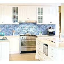 marble backsplash kitchen tiles interior grey marble stone blue glass mosaic tiles kitchen wall tile
