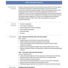 Chef Resume Template Free Chef Resume Examples Free Resume