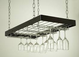 image of hanging wine glass rack ikea