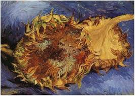 image only van gogh two cut sunflowers