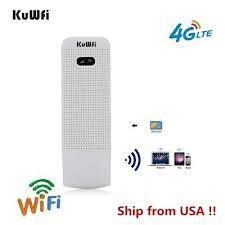 <b>KuWFi</b> Pocket <b>4G LTE USB</b> WiFi Modem Router mobile sim card ...