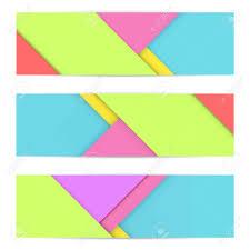 Material Design Stock Images Banner Of Modern Material Design