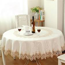 lace round table cloth european luxury beige jacquard embroidered lace round table cloths table linen table