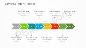 Timeline Powerpoint Slide Free Company History Powerpoint Timeline