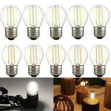5 Light Bulb Lamp Details About 1 5 10x Vintage G45 Led Filament Light Lamp Retro Edison Bulb High Power E27 2w