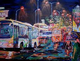 chennai painting chennai traffic by narayan iyer on wall art painters in chennai with chennai traffic painting by narayan iyer