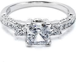 Attractive Princess Cut Diamond Wedding Rings Innovative