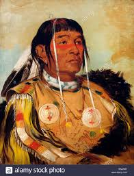 george catlin sha co pay the six chief of the plains ojibwa 1832 oil on canvas smithsonian american art museum washington