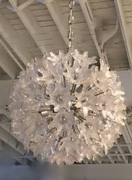hand blown murano glass fl sputnik chandelier by mazzega
