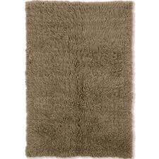 beige flokati rug for home decoration ideas