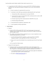 46 Cfr Part 7 Chart Offering Coast Guard Approved Courses Pages 1 50 Text