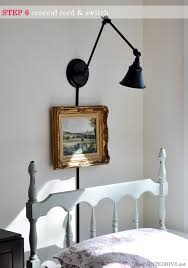 a desk lamp becomes a wall light the