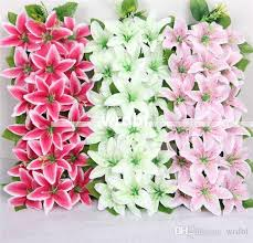 2017 artificial silk lily floral arrangements archway row flowers