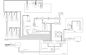 image example of an electrical installation diagram drawn with visual building
