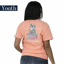Simply Southern Size Chart Youth Details About Youth Koala Bear Simply Southern Tee Shirt