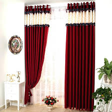 Red And Black Curtains Bedroom Red Bedroom Curtain Amazing White ...