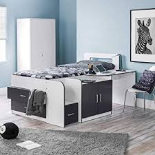 cabin bed with storage. Exellent Storage Mid Sleeper With Storage Happy Beds Cookie White Charcoal Grey Multicolour  Wood Modern Cabin Bed Throughout With Storage R