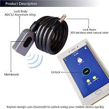 OOOUSE <b>Fingerprint Bike Lock</b>,Keyless Bike Cable Lock with USB ...