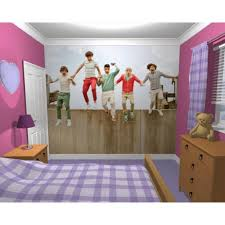 One Direction Bedroom Decor Wall Mural 1d One Direction Music Stylish  Bedroom Themed Design Best Images