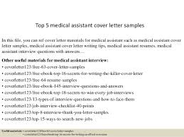 top 5 medical assistant cover letter samples 1 638 cb=