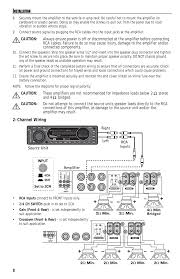 channel wiring mb quart reference series 4 channel amplifier Mb Quart Crossover Wiring Diagram channel wiring mb quart reference series 4 channel amplifier raa4200 user manual page 8 76 MB Quart Crossover Installation