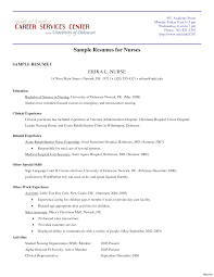 Bsc Resume Sample Endearing Resume Sample for Bsc Nursing On Resumes Examples for 51