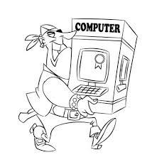 Disegno Di Pirata Che Porta Un Computer Da Colorare Disegni Da