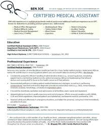 Resume Examples For Medical Assistant Stunning Medical Assistant Resume Examples Medical Field Engineer Sample