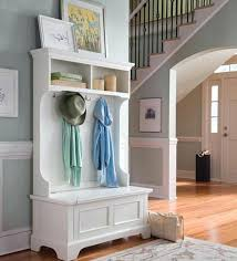 White Coat Rack With Storage