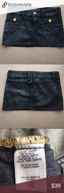 Guess By Marciano Size Chart Guess By Marciano Mini Jean Skirt New No Tags Size 26