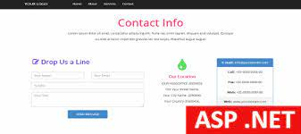 asp net contact template free html