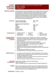 resume for cleaner