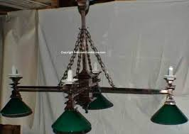 crystal chandelier pool table lights antique light combination gas electric