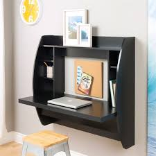 wall mounted home office. black floating wall mounted desk for contemporary home office w