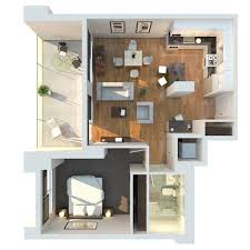 General: Mumbai One Bedroom Apartment - 1 Bedroom House Plans