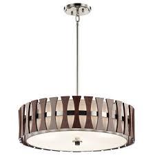 inspiration house tremendous kichler 43753aub cirus modern auburn stained drum pendant lighting in spectacular drum