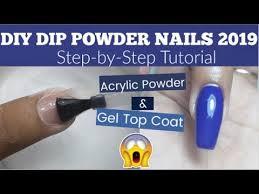 how to diy dip powder nails at home
