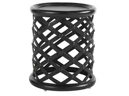 designs sedona table top base:  originalviews  modern outdoor kingstown sedona round accent table woven metal base nailhead detail texture metal table top material