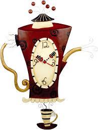 Allen Designs Allen Designs Steamin Tea Pendulum Wall Clock