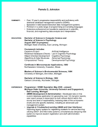 Computer Science Resume Example Examples Of Resumes