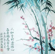 original chinese plum blossoms bamboo painting wall art