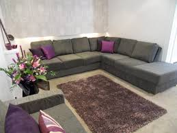 grey and white living room rug