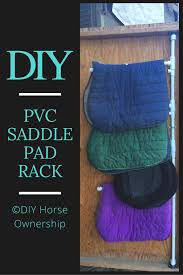 diy how to make a swiveling pvc saddle pad rack