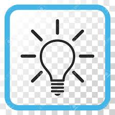 vector square blue icon lighting bulb. Light Bulb Blue And Gray Vector Icon. Image Style Is A Flat Icon Symbol In Square Lighting
