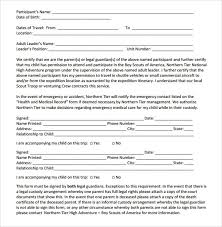 Sample Bsa Medical Form Bsa Health Form Sample Bsa Medical Formboy ...