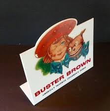 Buster Brown Socks Size Chart Authentic Vintage Buster Brown Shoes Wooden Advertising