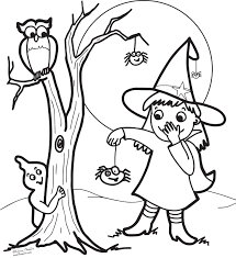 Halloween Witch Coloring Pages For Kids Coloringstar