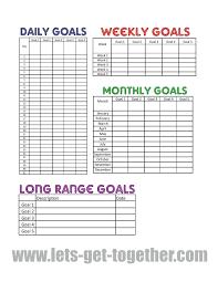 22 Exact Chart Goal Setting